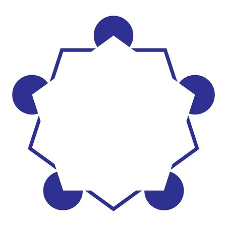 Pentagon Illusory Contour mind trick - Variation of the Kanizsa Optical Illusion