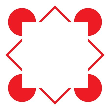 Square Illusory Contour mind trick - Variation of the Kanizsa Optical Illusion