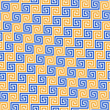 """Lettre traditionnelle """"S"""" modèle de forme commune dans diverses cultures - sans couture, répétition, carrelage, chevauchement"""