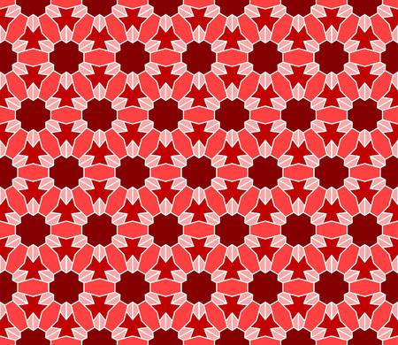 islamic pattern: Geometric interlocking tessellation pattern in hexagonal layout similar to Islamic traditional patterns - seamless editable repeating vector background wallpaper Illustration