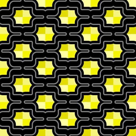 Futuristic pattern of octagonal shield  rivet shapes in heaxagonal arrangement - seamless editable repeating vector background wallpaper