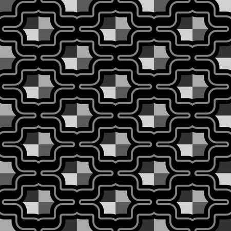 quadrant: Futuristic pattern of octagonal shield  rivet shapes in heaxagonal arrangement - seamless editable repeating vector background wallpaper