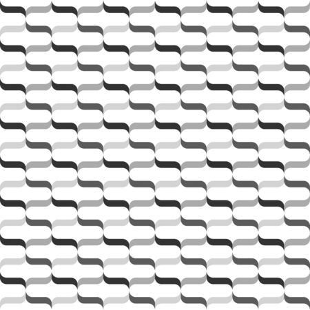 Contemporary ribbon  curly bracket pattern - seamless editable repeating vector background wallpaper