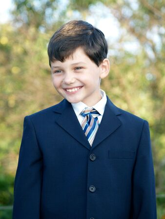 Schoolboy smiling Stock Photo - 2065240