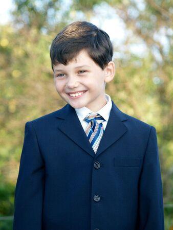 Schoolboy smiling Stock Photo - 2065240