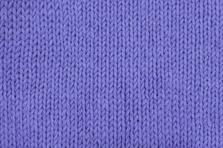 Abstract lavender knitting texture close-up. Stockinette stitch. Knit stitch.
