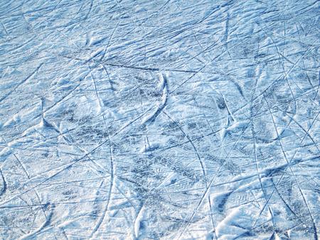 Blue ice rink winter pattern Stock Photo