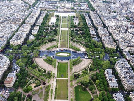 A view from the Effiel Tower at Paris 写真素材