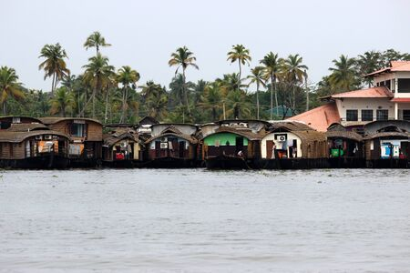 backwater: Houseboats at Kerla