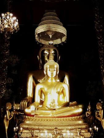 hope: Golden Buddha image Stock Photo