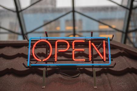 neon sign: Open Neon Sign