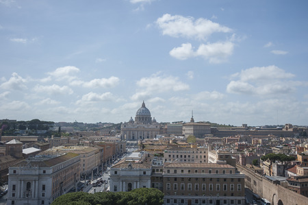 st  peter s square: View of San Peter basilica, Rome, Italy.
