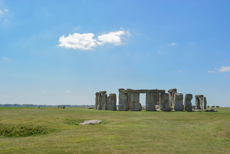 english culture: mysterious Stonehenge in UK , England.
