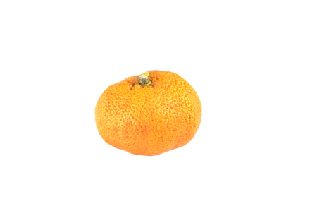 wither: Wither orange fruit, isolated on white