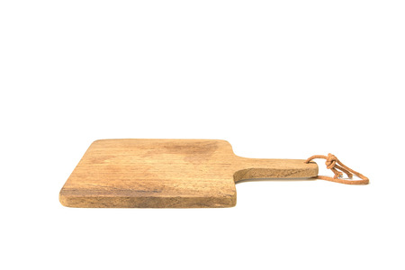 trencher: wooden chopping block