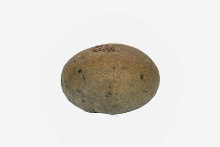 flex: Organic bun with flex seeds topping on white backaground