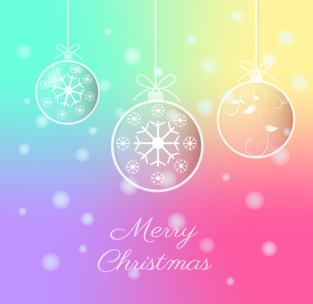 Merry Christmas and Happy New Year Background, Vector Illustration.