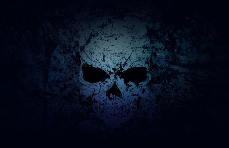 paranormal: A weathered skull stands out in a sea of decay.