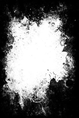 gothique: Un r�sum� peinte cadre vertical. Banque d'images