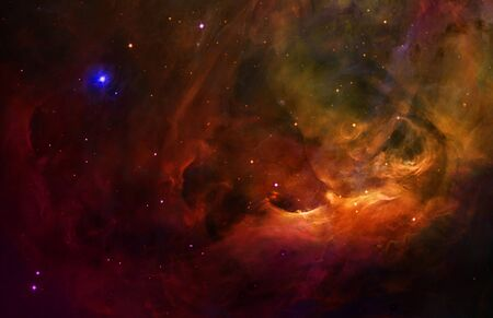 orion: A surreal and abstract background of the orion belt in the night sky. Stock Photo
