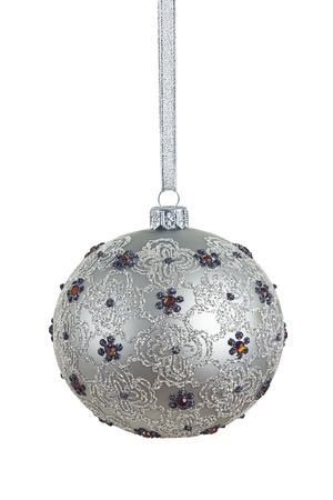 old fashioned, beautiful christmas ball with precise