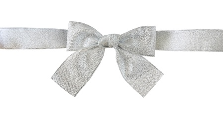 silver gift bow Stock Photo - 15553370