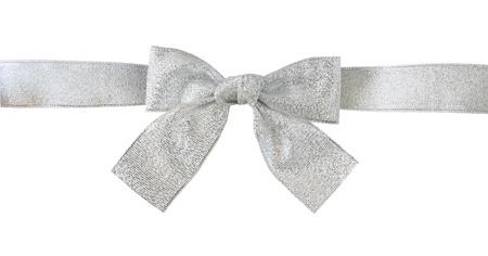 silver ribbon: silver gift bow