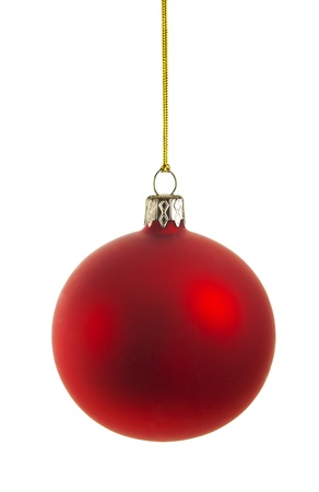 perfect christmas ball isolated on white background