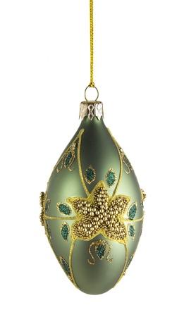decorative christmas ball isolated on white background
