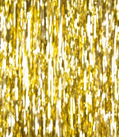 Holidays golden stripes defocused background Stock Photo