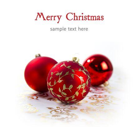 christmas decoration isolated on white background Standard-Bild