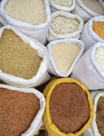 grits: Seeds for sale Stock Photo