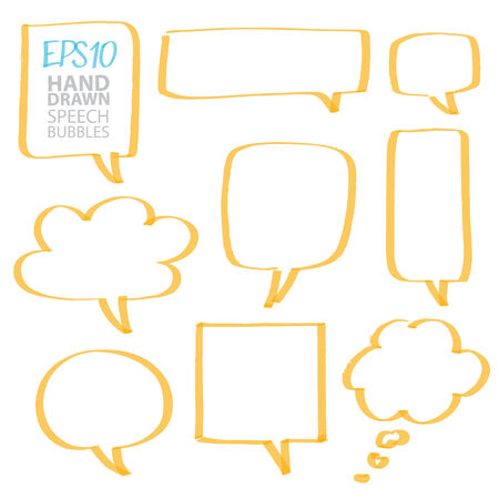 marker speech bubbles - color can be changed by one click