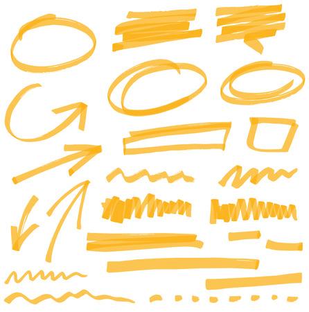 dessin: vecteur surligneur �l�ments - couleur peut �tre chang�e par un clic Illustration