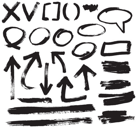 vector brush stroke design elements