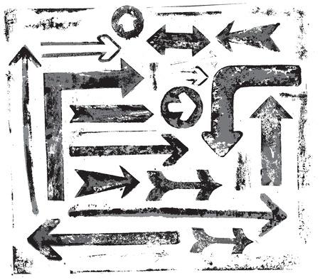 vector grunge arrows set 矢量图像