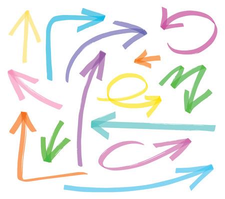 flechas vector resaltador - color se puede cambiar con un solo clic