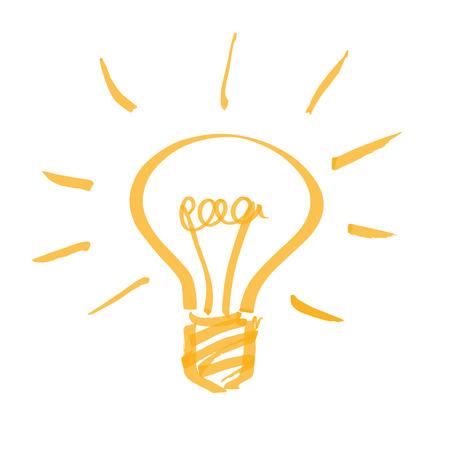 hand drawn light bulb  イラスト・ベクター素材
