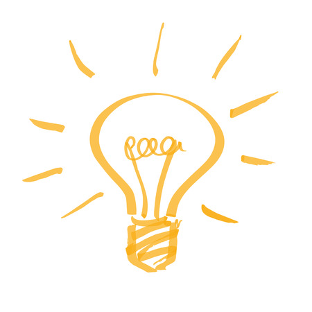 hand drawn light bulb Illustration
