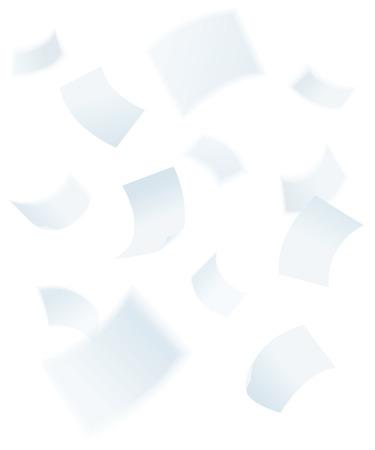 paper falling down, vector illustration Illustration