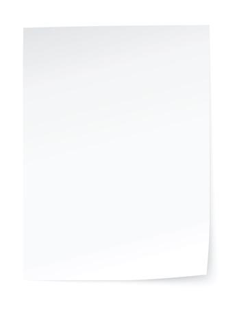 hoja en blanco: hoja de papel en blanco