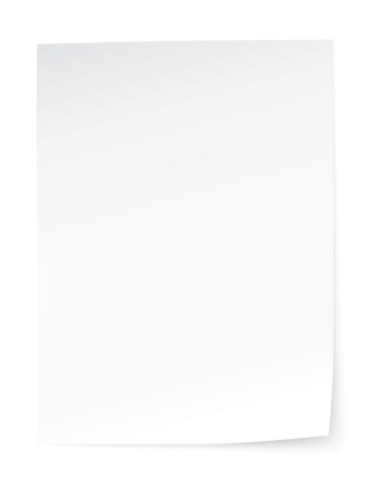 blank sheet of paper Illustration