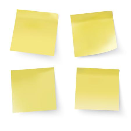 yellow stick notes, vector illustration Illustration