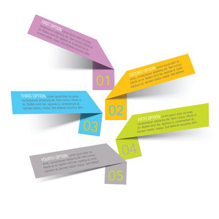 vector sticker banners, gegroepeerd, gemakkelijk te wijzigen Stock Illustratie