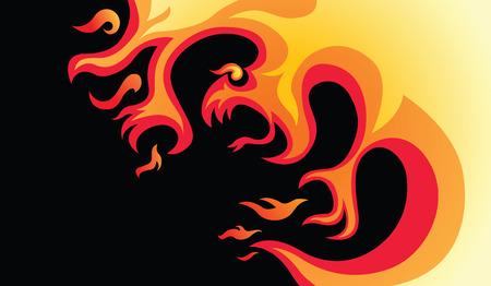 dangerous fire Vector