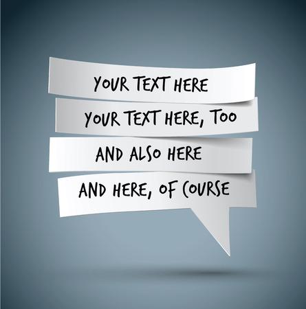 knippen: gesneden papier tekstballonnen, vector