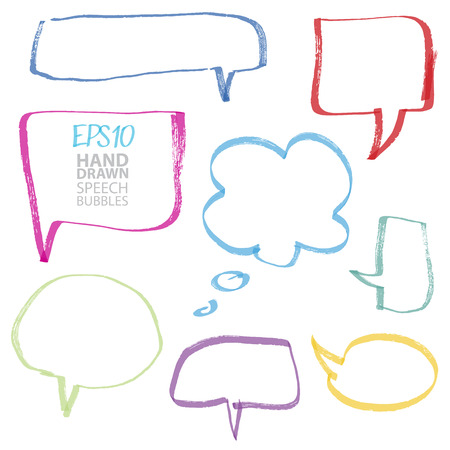 speech bubbles, color can be changed by one click Vector