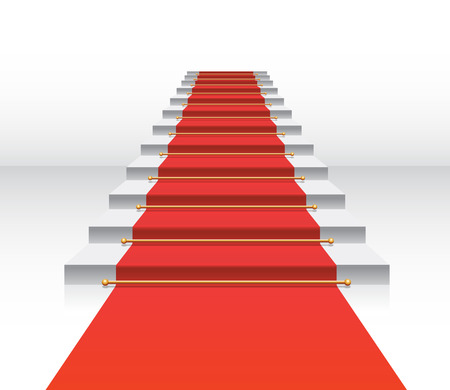 white carpet: red carpet staircase vector