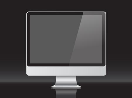 presentation screen: screen for presentation, layered Illustration
