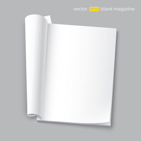 blank magazine with transparent shadows Illustration